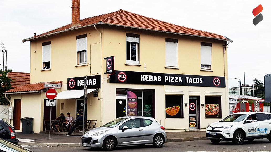 Kebab pizza tacos